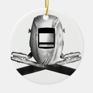 Welding Hood and Cross Stingers Christmas Ornament