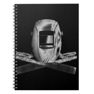 Welding Hood and Cross Stingers Notebook