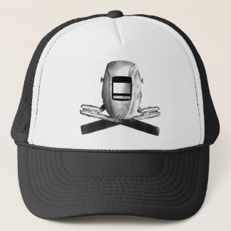 Welding Hood and Cross Stingers Trucker Hat