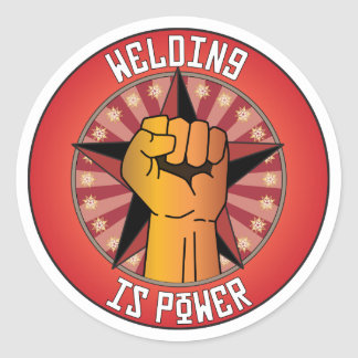 Welding Is Power Classic Round Sticker