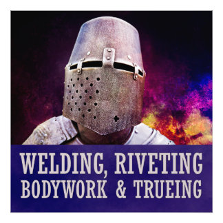 Welding, Riveting Bodywork & trueing Photographic Print