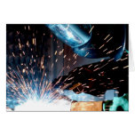 Welding Sparks Greeting Cards