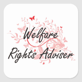 Welfare Rights Adviser Artistic Job Design with Bu Square Sticker