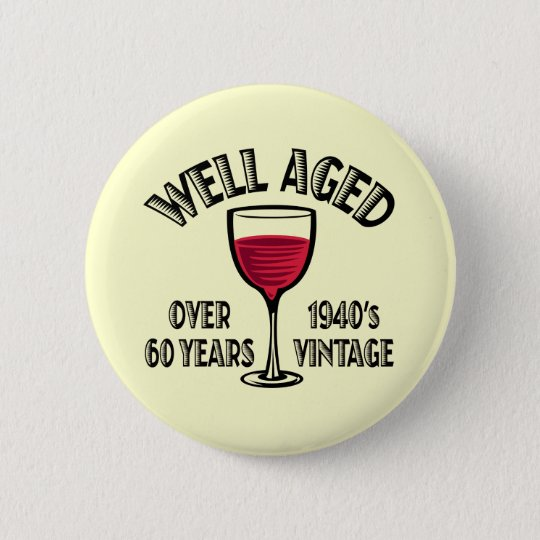 Well Aged 1940's Vintage 6 Cm Round Badge