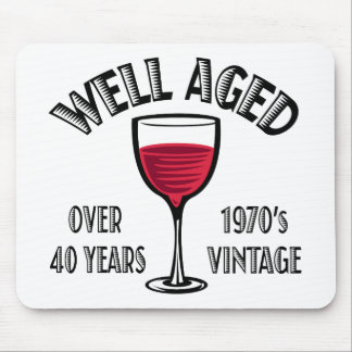 Well Aged 1970's Vintage Over 40 years Mouse Pad