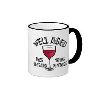 Well Aged Over 90 Years Ringer Mug