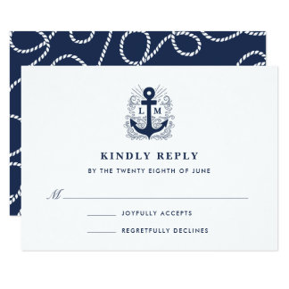 Well Anchored | Nautical Anchor RSVP Card