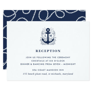 Well Anchored | Nautical Reception Enclosure Card
