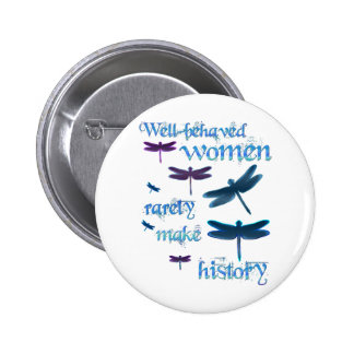 Well-behaved Dragonflies 6 Cm Round Badge