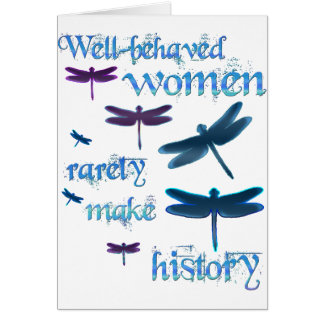 Well-behaved Dragonflies Greeting Card