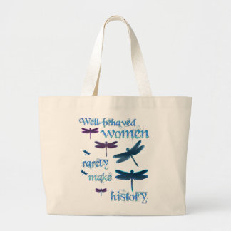 Well-behaved Dragonflies Large Tote Bag