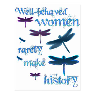 Well-behaved Dragonflies Postcard