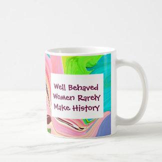 well behaved women basic white mug