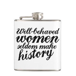 Well behaved women hip flasks
