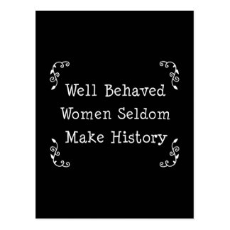 Well Behaved Women Postcards
