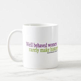Well Behaved Women Quote Basic White Mug