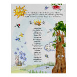 Well-Being Nature Cartoons Abraham Hicks Quote Poster