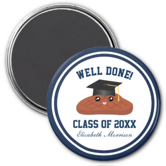 Well Done Class of 2017 Graduation Party Favors 7.5 Cm Round Magnet
