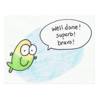 Well Done Super Bravo Post Card Fish