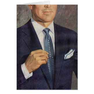 well-dressed mystery man card