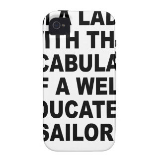 Well Educated Sailor Nerdgasm Women's T-Shirts.png Case-Mate iPhone 4 Cases
