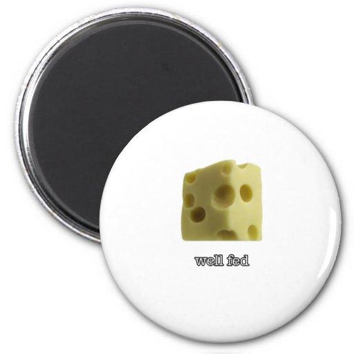 well fed refrigerator magnet