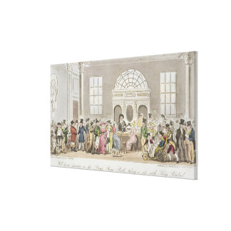 Well known Characters in the Pump Room, Bath, Taki Canvas Print