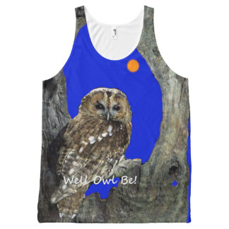 Well Owl Be! All-Over Print Tank Top