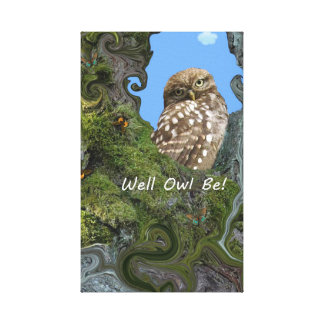 Well Owl Be! Canvas Print