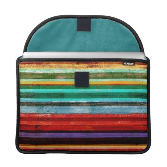 Well-padded Macbook Pro Sleeve Rainbow Striped