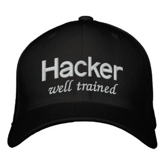 Well Trained Black Hat Hacker Embroidered Hat