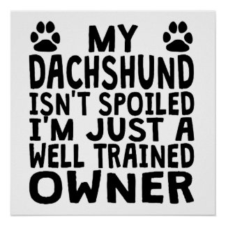 Well Trained Dachshund Owner Poster