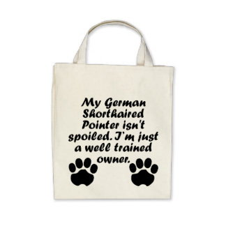 Well Trained German Shorthaired Pointer Owner Tote Bags