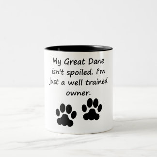 Well Trained Great Dane Owner Two-Tone Coffee Mug