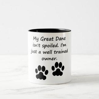 Well Trained Great Dane Owner Two-Tone Mug