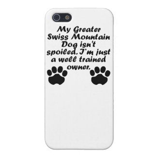 Well Trained Greater Swiss Mountain Dog Owner Case For iPhone 5/5S
