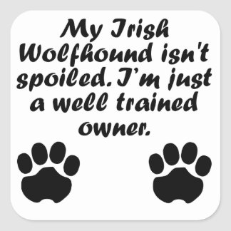 Well Trained Irish Wolfhound Owner Stickers