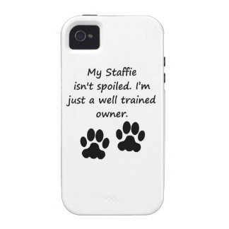 Well Trained Staffie Owner Case-Mate iPhone 4 Cases