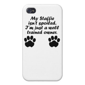 Well Trained Staffie Owner iPhone 4 Cover