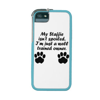 Well Trained Staffie Owner iPhone 5 Cases