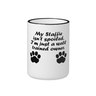 Well Trained Staffie Owner Coffee Mugs