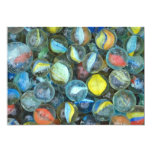 Well-used marbles 13 cm x 18 cm invitation card