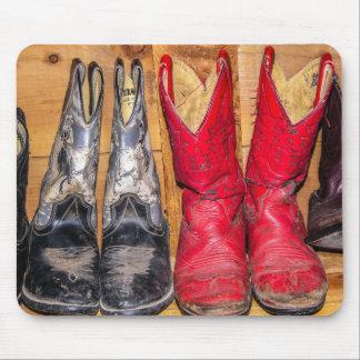Well Worn Cowboy Boots - Women Mousepad