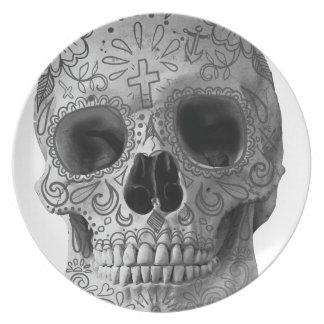 Wellcoda 3D Skull Horror Face Aztec Head Plate