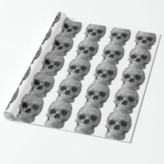 Wellcoda 3D Skull Horror Face Aztec Head Wrapping Paper