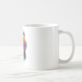 Wellcoda 80' Skull New Wave Handsome Face Coffee Mug