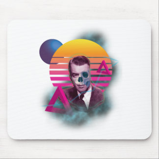 Wellcoda 80' Skull New Wave Handsome Face Mouse Mat