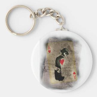 Wellcoda Ace Heart Hustler USA Casino Fun Key Ring
