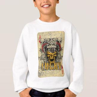 Wellcoda Ace Of Hearts Skull Scary Card Sweatshirt