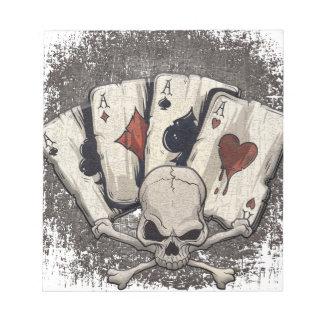 Wellcoda Ace Playing Cards Skull Casino Notepad